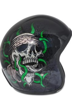 North Virus Superflake green skull gold