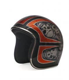 North Virus Superflake Black Orange & Gray skulls