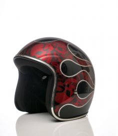 North Virus Superflake Red Flames Skulls & Black