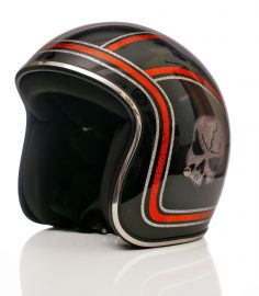 North Virus Superflake Black - Orange Lines & Gray skull