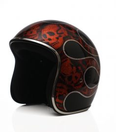 North Virus Superflake Black Flames & Red Skulls