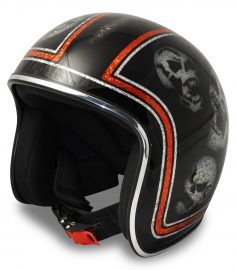 North Virus Superflake Orange line scull