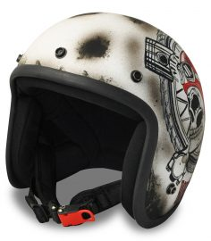 North Virus Superflake Vintage scull red helmet