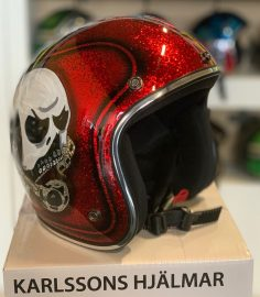 North Virus Superflake Red Big Scull Flame